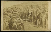 Image of [Turning the first sod for railway construction, Timaru] -