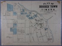 Image of Plan of Rhodes' Town Timaru showing the property of Messrs Rhodes -