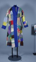 Image of Gown, Dressing - Handstitched patchwork house coat.