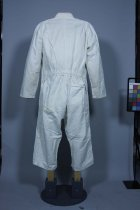 Image of Coveralls - White cotton twill overalls.
