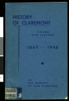 Image of History of Claremont : Timaru New Zealand 1867-1948                                                                                                                         - Selbie, Len, b. 1887