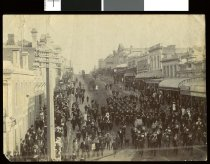 Image of [Procession held in honour of W Byrne, leaving for the Boer War] -