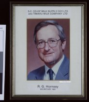 Image of S.C. Co-op Milk Supply Coy Ltd and Timaru Milk Company Ltd : R. G. Hornsey Secretary 1981 -