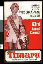 Image of 63rd annual Carnival programme 1974-1975 -