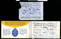 Image of Train ticket, 1961 (interior & loose reciept)