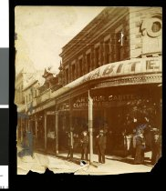 Image of [Arthur Gabites' clothing and boot store, Stafford Street] -