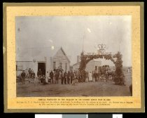 Image of Temuka decorated on the occasion of Sir George Grey's visit in 1863 -