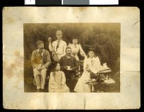 Image of [Elworthy family and friends at Holme Station] -