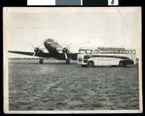Image of [The first DC3 passenger trip from the 'new' Levels Airport] -