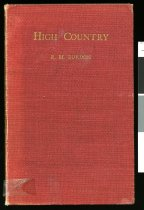 Image of High country : the evolution of a New Zealand sheep station     - Burdon, Randal Mathews, 1896-