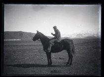 Image of [Man on horseback, Clayton Station] - Clayton Station Collection