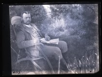 Image of [Aplin posed in a longe chair] - Clayton Station Collection