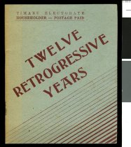 Image of Twelve retrogressive years -
