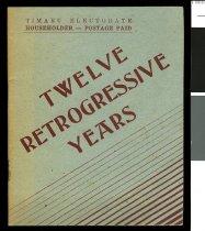 Image of Twelve retrogressive years -