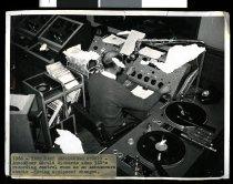 Image of Temporary announcer's studio [3ZC] -