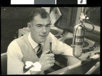 1964 - Announcer Ian Johnstone.