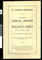 Image of St. Saviour's orphanages : fiufty-seventh annual report and balance sheet of St. Saviour's guild for year ended 31 August, 1943 -