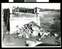 Image of [Opihi Bridge and approach flood damge, 1951] -