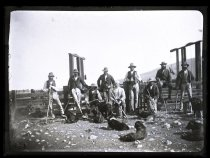 Image of [James Hamilton and musterers, Clayton Station] - Clayton Station Collection
