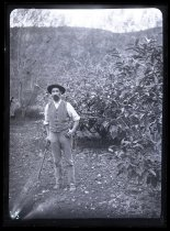 Image of [Rowe, in the gardens, Clayton Station] - Clayton Station Collection