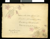 An autograph book kept by Hilda Howard (later Nich...