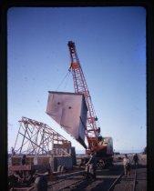 Image of [Dismantling shingle hopper, Sutherlands] -