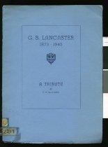 Image of G B Lancaster - De La Mare, F A