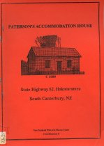 Image of Patterson's Accommodation House : State Highway 82, Hakatatamea South Canterbury, NZ -