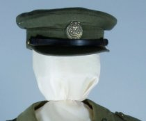 Khaki officers hat in fabric that matches jacket 9...