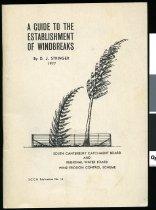 Image of A guide to the establishment of windbreaks - Stringer, D J (David John)