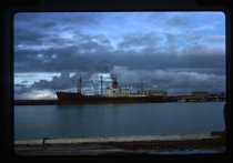 The 'Waitaki' berthed at No.1 Extension, Timaru, M...