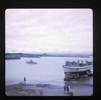 Image of [Launching Dale Bros fishing boat] -