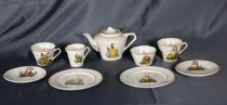 Child's teaset with Snow White and The Seven Dwarv...