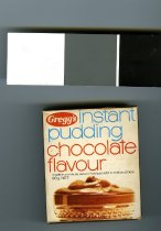 "Image of Box, Food - Small brown box with ""Gregg's Instant Pudding Chocolate Flavour 98 gm"" on the front. Has directions on the back. Unopened so box still has original contents inside."