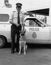 Image of [Constable Noel Richards and (deceased) dog Jak] -