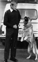 Image of [Constable T Schrafft and police dog Franz] -
