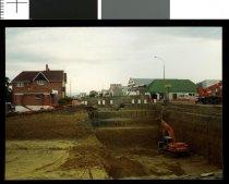 Image of [Church Street over bridge construction, Timaru] -