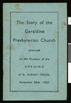 Image of The story of the Geraldine Presbyterian Church -