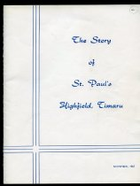 Image of The story of St Paul's Highfield, Timaru - Cruickshank, May (ed.)