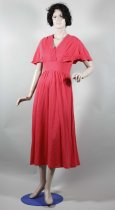 Image of Dress - Woman's pink wool dress.