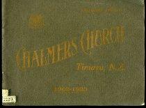 Image of Chalmers Church Timaru N. Z : souvenir album 1902-1923 - Bowie, R H