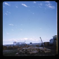 Image of [Wheat silos, Timaru Harbour] -