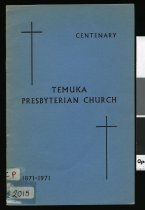 Image of Temuka Presbyterian Church centenary