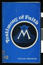 Image of Testimony of faith - Greenwood, William