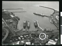 Image of [Aerial view, Timaru Harbour] -