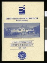 Image of 75 years of Presbyterian Support in South Canterbury 1919-1993 - Scott, M E