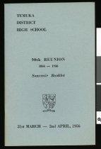 Image of Temuka District High School : 90th reunion souvenir booklet  - Chapman-Cohen, George