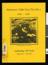 Image of Mackenzie Collie Dog Club (Inc) 1890-1990 : celebrating 100 years -