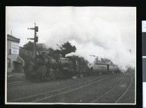 Image of [South bound passenger train, Timaru] -