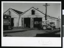 Image of [Old locomotive shed, Timaru waterfront] -